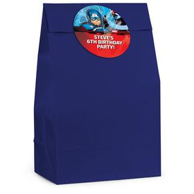 Captain America Personalized Favor Bag (12 Pack)