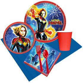 Captain Marvel Party Pack for 8