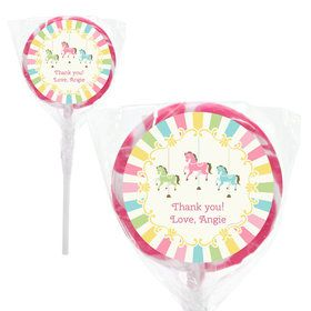 "Carousel Personalized 2"" Lollipops (20 Pack)"