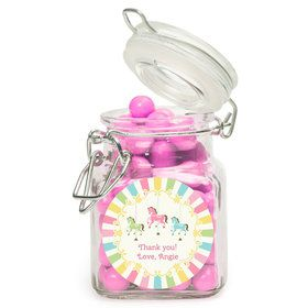 Carousel Personalized Glass Apothecary Jars (12 Count)