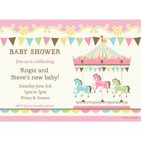 Carousel Personalized Invitation (Each)