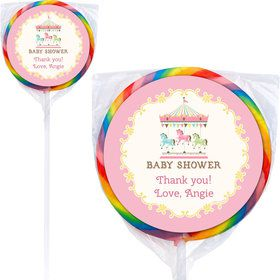 Carousel Personalized Lollipops (12 Pack)