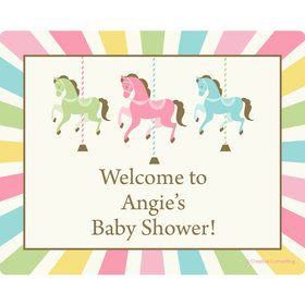 Carousel Personalized Rectangular Stickers (Sheet of 15)