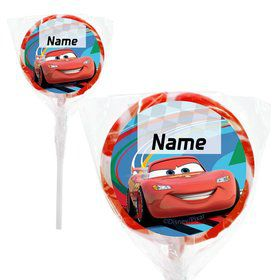 "Cars 2 Personalized 2"" Lollipops (20 Pack)"