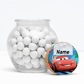"Cars 2 Personalized 3"" Glass Sphere Jars (Set of 12)"