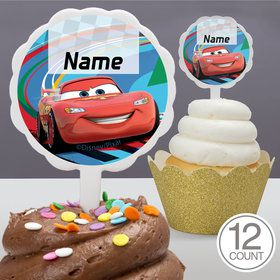 Cars 2 Personalized Cupcake Picks (12 Count)