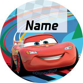 Cars 2 Personalized Mini Stickers (Sheet of 24)