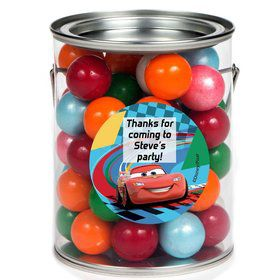 Cars 2 Personalized Paint Can Favor Container (6 Pack)