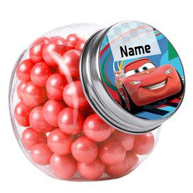Cars 2 Personalized Plain Glass Jars (10 Count)