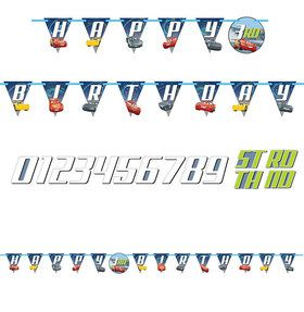 Cars Birthday Banner Kit