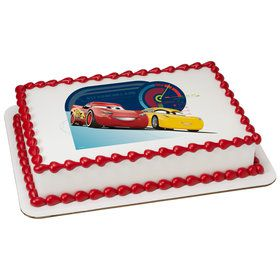 Cars Quarter Sheet Edible Cake Topper (Each)