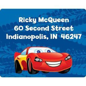 Cars Too Personalized Address Labels (sheet of 15)