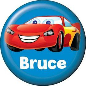 Cars Too Personalized Mini Magnet (each)