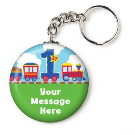 "Cars, Trucks, & Trains Personalized 2.25"" Key Chain (Each)"