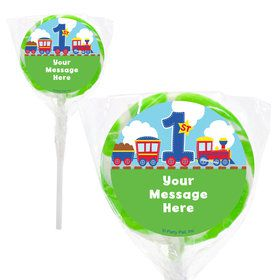 "Cars, Trucks, & Trains Personalized 2"" Lollipops (20 Pack)"
