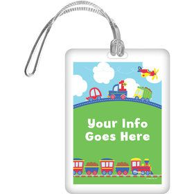 Cars, Trucks, & Trains Personalized Luggage Tag (Each)