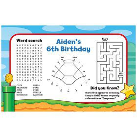 Cart Brothers Personalized Activity Mat (8 Pack)