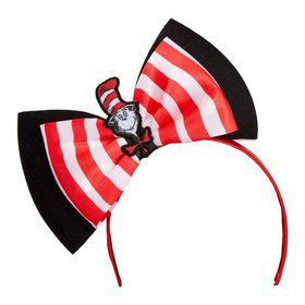 Cat in the Hat Big Bow Headband