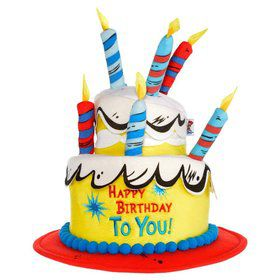 Cat in the Hat Deluxe Birthday Hat