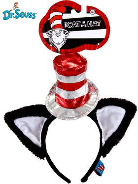 Cat In The Hat Deluxe Head Band With Ear