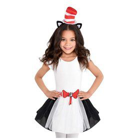 Cat in the Hat Tutu and Headband Set - Girl Small 4-6