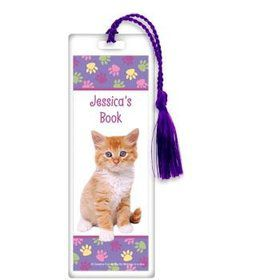 Cat Party Personalized Bookmark (each)