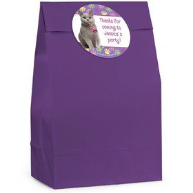 Cat Party Personalized Favor Bag (Set Of 12)