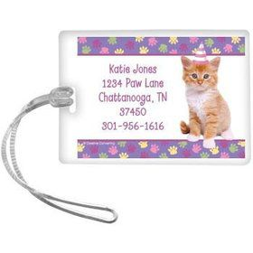 Cat Party Personalized Luggage Tag (each)