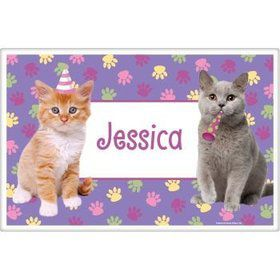 Cat Party Personalized Placemat (each)