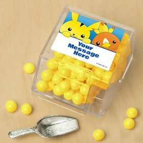 Catch 'Em All Personalized Candy Bin with Candy Scoop (10 Count)