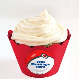 Catch 'Em All Personalized Cupcake Wrappers (Set of 24)