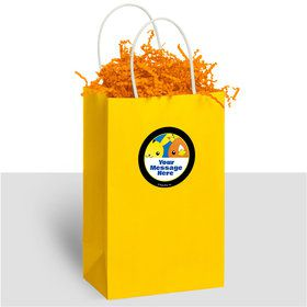 Catch 'em All Personalized Kraft Handle Favor Bags (10 Count)