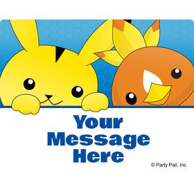 Catch 'Em All Personalized Rectangular Stickers (Sheet of 15)