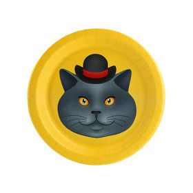 Cats Meow Gray Cat Dessert Plate (8)