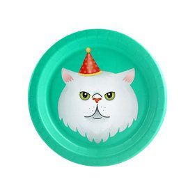Cats Meow White Cat Dessert Plate (8)