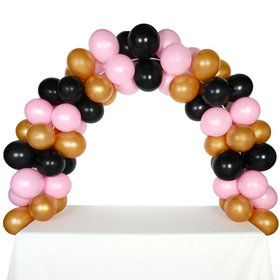 Celebration Tabletop Balloon Arch-Gold, Black Pink