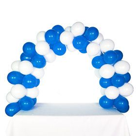 Celebration Tabletop Balloon Arch-Midnight Blue White