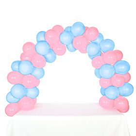 Celebration Tabletop Balloon Arch-Pink Sky Blue