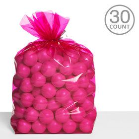 Cello Bags Bright Pink (30 Count)