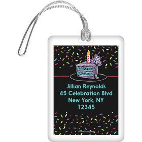 Chalk Birthday Personalized Bag Tag (Each)