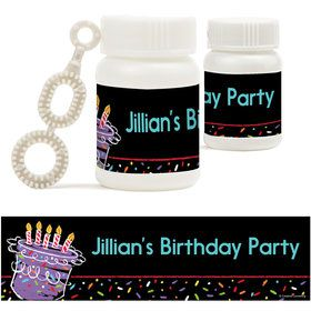 Chalk Birthday Personalized Bubbles (18 Pack)