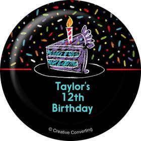 Chalk Birthday Personalized Button (Each)