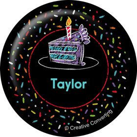 Chalk Birthday Personalized Mini Button (Each)