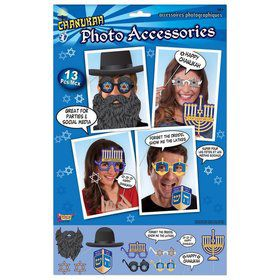 Chanukah 13pc. Photo Booth Accessories