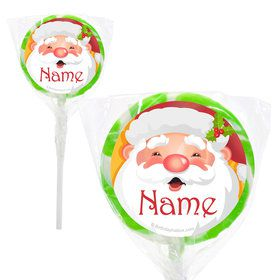 "Cheerful Santa Personalized 2"" Lollipops (20 Pack)"