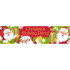 Cheerful Santa Personalized Banner (Each)