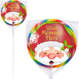 Cheerful Santa Personalized Lollipops (12 Pack)