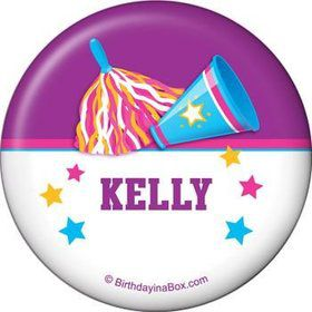 Cheerleader Personalized Button (each)