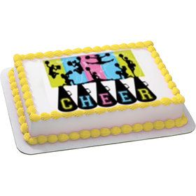 Cheerleading Quarter Sheet Edible Cake Topper (Each)