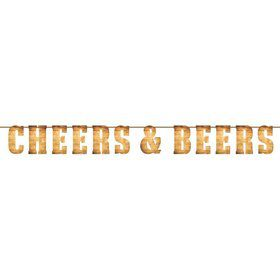 Cheers & Beers Letter Banner